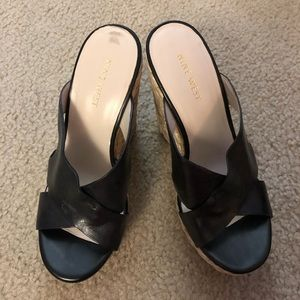 Nine West black wedges shoes size 5M